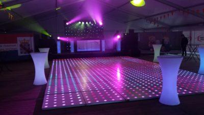 verlichte dansvloer in Amerongen