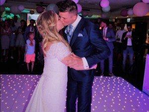 Bruidspaar Debby en Thijs