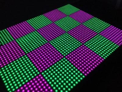 100 pixels verlichte dansvloer