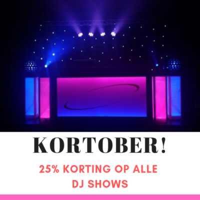 25% korting drve in show