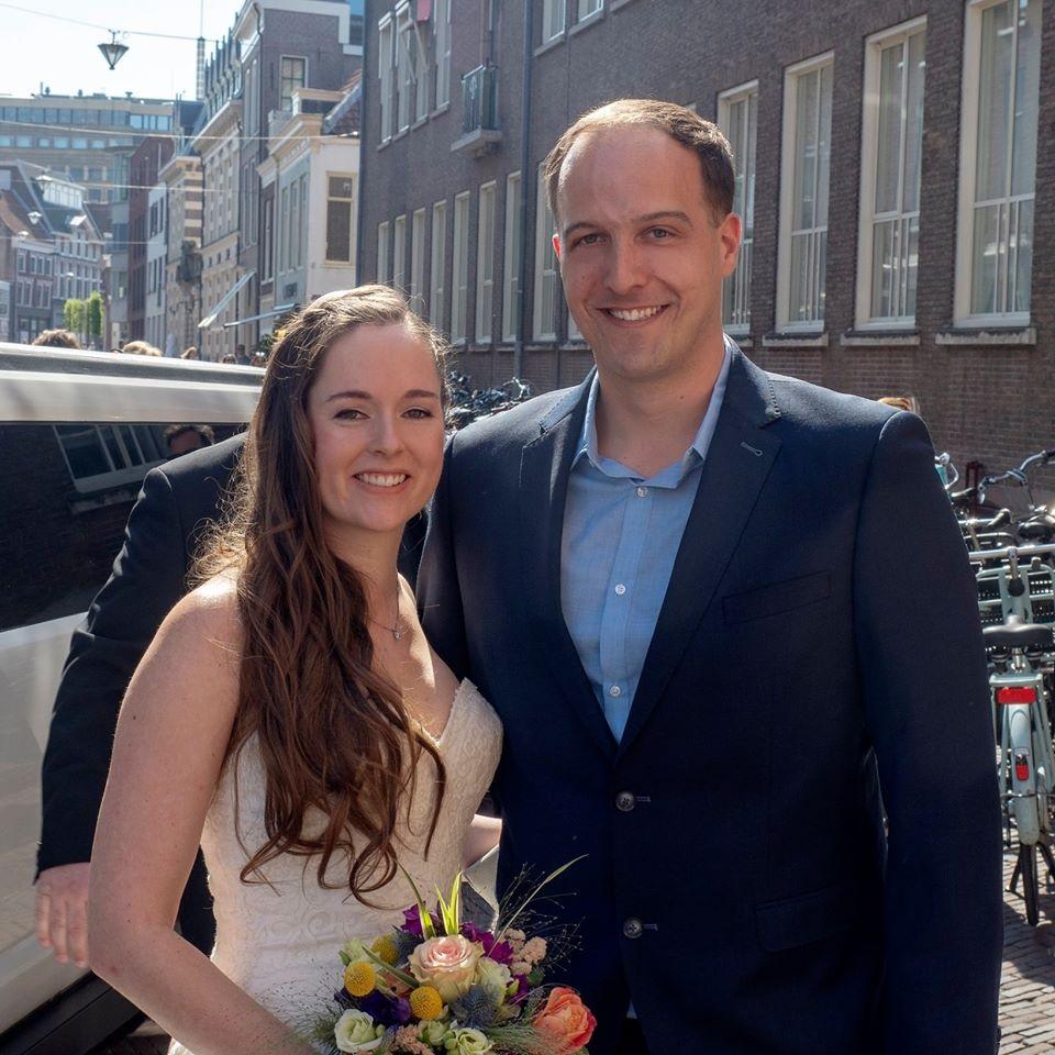 Bruidspaar Jim en Danielle