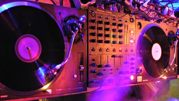 Foto vinyl draaitafels