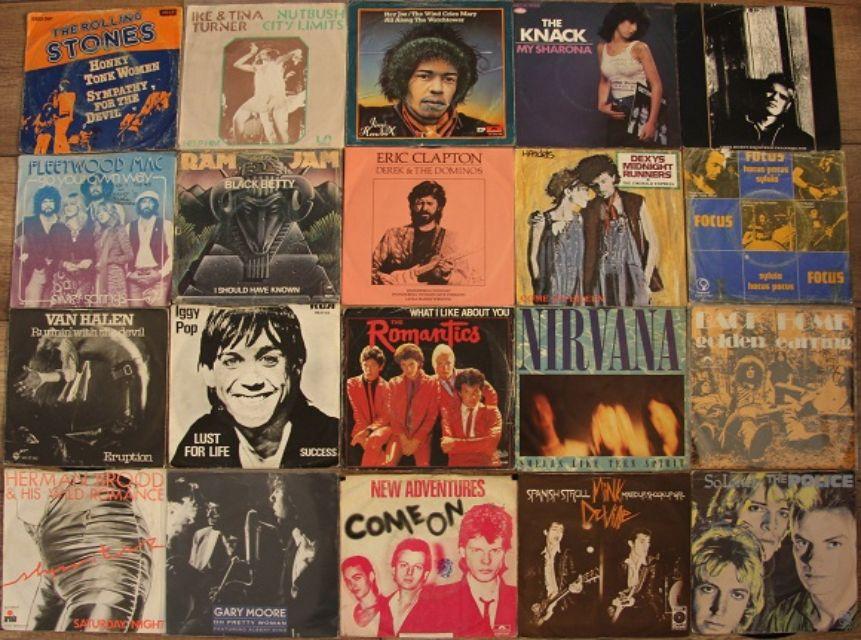 Foto singles van vinyl