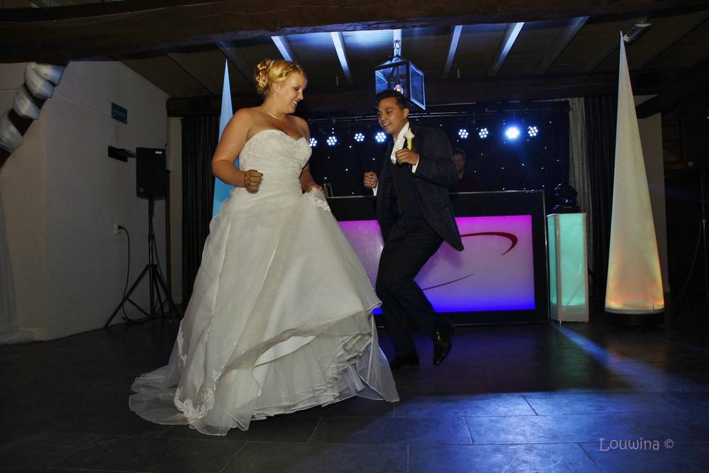 Dit is een foto van een bruidspaar