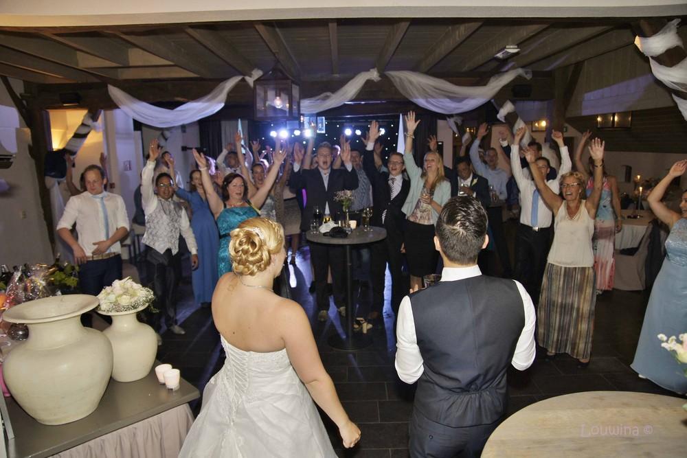 foto van een bruiloft