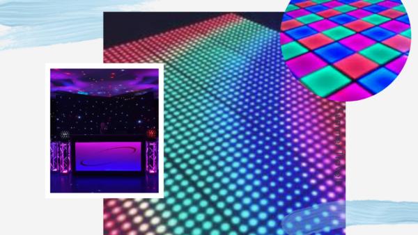 DJ met dansvloer voor een feest