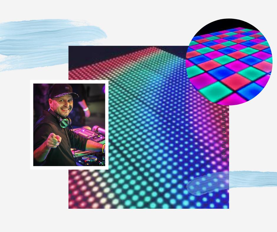 Dansen op een verlichte dansvloer